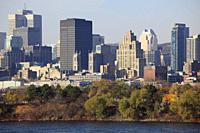 Canada, Quebec, Montreal, skyline, St Lawrence River,.