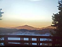 Northern California mountain sunrise near the Shasta National Forest.
