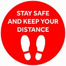 Social Distancing or Safe Distancing Floor Sticker for stores and supermarkets to help reduce the spread of covid-19 coronavirus.