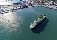 Vessel at the port of Barcelona, Spain.