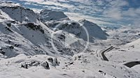 4K Winter landscape at Julier Mountain pass, Grisons, Switzerland