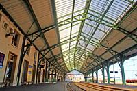 railway station platforms, 1878, Cerbère, France