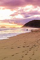 Europe, Spain, Gipuzkoa, Zarautz Beach.