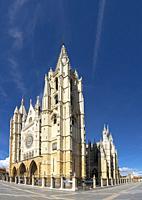 Europe, Spain, Leon, Santa María de León Cathedral.