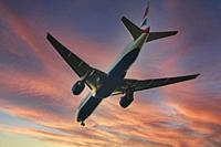 British Airways flight taking off to the skies.