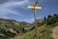Pico de Aspe route, Aisa Valley, Jacetania, Huesca, Spain.