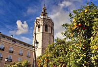 Torre del Miquelete, Plaza de la reina, Valencia, Comunidad Valenciana, España