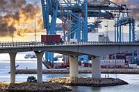 Commercial Port of Algeciras, Cádiz, Andalucia, Spain, Europe