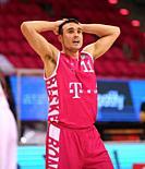 Bonn, Germany, 14.02.2021, Telekom Dome, Basketball Bundesliga, Telekom Baskets Bonn vs Syntainics MBC Weissenfels: Anthony DiLeo (Bonn) looks on.