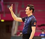 Bonn, Germany, 14.02.2021, Telekom Dome, Basketball Bundesliga, Telekom Baskets Bonn vs Syntainics MBC Weissenfels: Referee Martin Matip gestures.