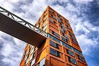 Newly built modern architecture at Strijp-S, Eindhoven, The Netherlands, Europe.