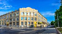 Kharkiv, Ukraine 07. 15. 2020. Historic building near the cathedral in Kharkiv, Ukraine, on a sunny summer day.