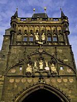 Charles IV Bridge Tower. . Prague. Czech Republic.