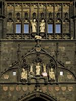 Facade Detail. Charles IV Bridge Tower. . Prague. Czech Republic.
