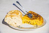 Spanish omelet. Spain.