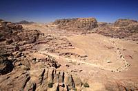 Elevated view of Petra, Jordan.