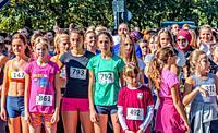 "Street race """"Djevojke na trcanju"""" on the Vilsonovo šetalište."