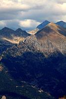 Landscape on the Piedrafita lake route from Piedrafita de Jaca. Tena valley. Huesca.