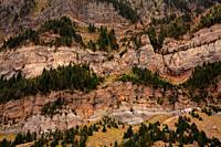 Landscape of the Sierra de la Partacua on the Piedrafita lake route from Piedrafita de Jaca. Tena valley. Huesca.