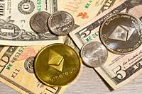 Ethereum cryptocurrency vs the US dollar.