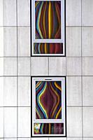 Moretti tower reflect in Financial District at La Defense, Paris, France.