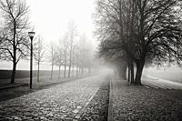 Foggy day at Terezin concentration camp.