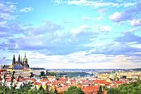 Cityscape Prague.