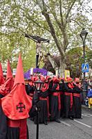Paso del Santísimo Cristo de la Luz (Gregorio Fernández, c. 1630). Holy Thursday procession. Easter week of Valladolid. Valladolid. Castile and Leon. ...