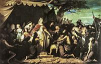 Catholic Monarchs receiving the Christian Captives in the Conquest of Malaga. Painted by Eduardo Cano de la Pena in 1867. Museum of Fine Arts of Sevil...