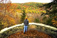 Fall colors at Clear Fork Gorge in northern Ohio OH.
