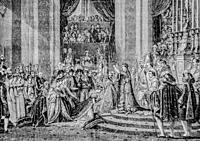ceremony of the coronation of our lady, 1804-1832 history of france by henri martin, editor furne 1880.
