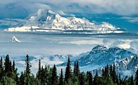 Denali ( Mt McKinley) from Ranger Dave Johnston´s log cabin near Talkeetna, Alaska.
