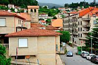 View of Combarro town, Pontevedra, Spain.