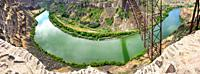 Snake river aerial view in Twin Falls, Idaho. Panoramic view.