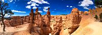Bryce Canyon National Park in summer season. Panoramic view.