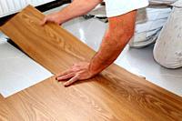 Professional installation of vinyl flooring or pvc flooring.