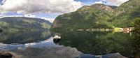 The Arnefjorden is a southern branch of the Sognefjord which is the largest and deepest fjord of Norway.