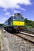 England, Devon, BR Class 25 Diesel Locomotive No. D7535 'Mercury' at Kingswear on the Dartmouth Steam Railway.