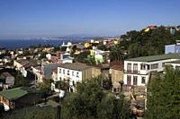View from Valparaiso. UNESCO World Heritage Site. Chile.
