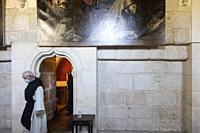 cloister of Santa Maria de El Paular Monastery. Madrid. Spain.