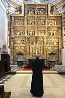 altarpiece in the church of the Santa Maria de El Paular Monastery. Madrid. Spain.