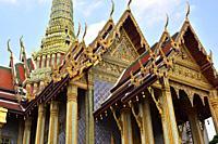 Bangkok, Wat Phra Kaew on The Grand Palace. Thailand.