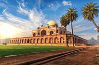 Humayun's Tomb in India, a famous UNESCO object in New Delhi.