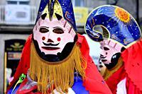 Pantalla of Xinzo de Limia. Mask of the Entroido of Xinzo, Limia, Orense, Spain.