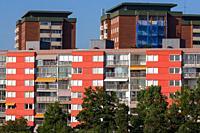 Stockholm City blocks of flats Sweden.