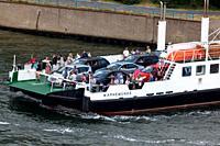 Car ferry passengers Warnemunde Rostock Germany.
