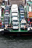 Car ferry passengers Warnemunde Rostock Germany.