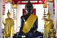 Phitsanulok, Wat Phra Si Rattana Mahathat or Wat Yai is a buddhist temple from 14th century. Thailand.