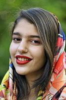 Iran, Shiraz, Eram Garden, Young woman.