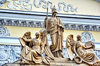 Mythological sculptures. Facade decoration.